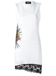 Dsquared2 Printed Jersey Dress White