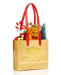 Holiday Lane Merry Christmas Macy's Paper Shopping Bag Ornament Only At Macy's
