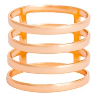 Earthy Chic Boutique 4 Row Cage Ring Rose