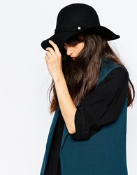 Whistles Felt Floppy Hat Black