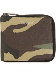 Saint Laurent Camouflage Wallet Multicolour
