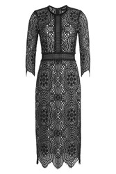 The Kooples Lace Dress With Contrast Lining Black