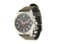 Citizen At0200 05E Eco Drive Chronograph Canvas Watch Army Black Dress Watches Green