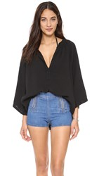 9Seed Marrakesh Casablanca Cover Up Top Black