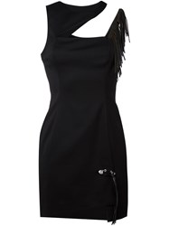 Versus Cut Out Asymmetric Dress Black