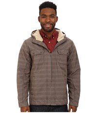 Prana Apperson Jacket Mud Plaid Men's Coat Brown