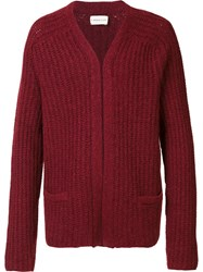 Simon Miller Ribbed Cardigan Red