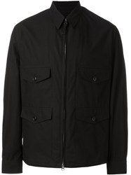 Christophe Lemaire Lemaire Poined Collar Field Jacket Black