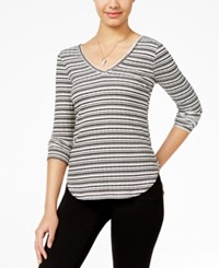 American Rag Striped Lace Trim Top Only At Macy's Egret Combo