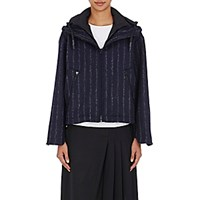 Cedric Charlier Women's Layered Hooded Jacket Navy