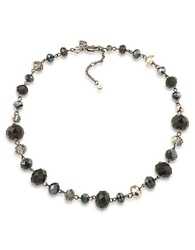 Carolee Flower District Jet Assorted Beaded Necklace Hematite