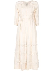 Sea Button Front Maxi Dress Nude And Neutrals