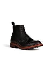 N.D.C. Leather Burford Trapper Lace Up Brogued Boots