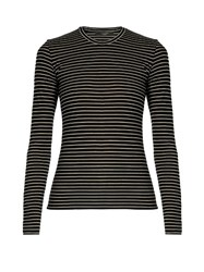 Max Mara Tea Top Black White