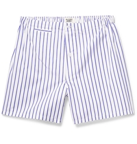 Sleepy Jones Jasper Striped Cotton Boxer Shorts White