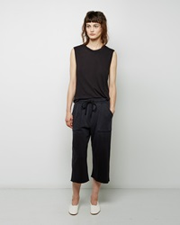 Raquel Allegra Cropped Sweatpant Vintage Black