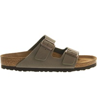 Birkenstock Arizona Faux Leather Sandals Stone