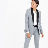 J.Crew Collection Ludlow Blazer In Heather Pewter