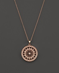 Bloomingdale's Diamond Medallion Pendant Necklace In 14K Rose Gold .25 Ct. T.W. Pink