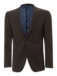 Linea Sharskin Suit Jacket Chocolate