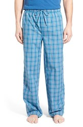 Nordstrom Men's Men's Shop Woven Lounge Pants Blue Teal Plaid