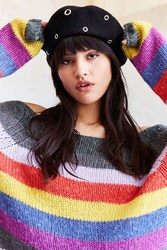 Urban Outfitters Grommet Beret Black