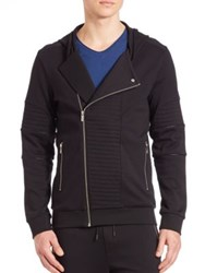 Hugo Boss Cotton Zip Front Jacket Black
