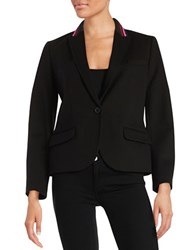 Anne Klein Knit One Button Blazer