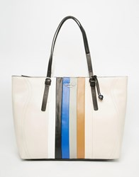 Fiorelli Striped Shopper Bag Colour Stripe White