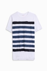 Orlebar Brown Sammy Striped T Shirt White
