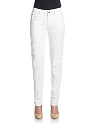 Just Cavalli Distressed Skinny Jeans White