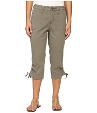 Nydj Petite Abbie Crop Chino In Lightweight Twill Sergeant Olive Women's Jeans