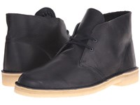 Clarks Desert Boot Navy Leather Men's Lace Up Boots Blue