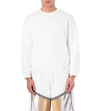 Nasir Mazhar Quilted Logo Cotton Jersey Sweatshirt White