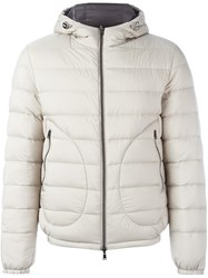 Herno Hooded Padded Jacket Nude And Neutrals