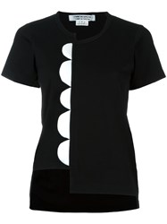 Comme Des Garcons Asymmetric Scalloped T Shirt Black