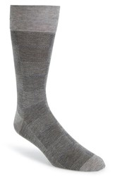 John W. Nordstromr Men's Big And Tall Nordstrom Check Socks Light Grey Marle Black