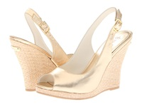 Lilly Pulitzer Kristin Wedge Gold Metallic Women's Wedge Shoes