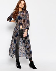 Only Long Tunic Mosiac Print Shirt Multi