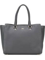 Hogan Logo Plaque Tote Grey