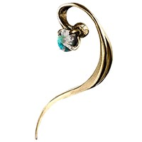 Bijules Double Helix Opal Cuff Gold