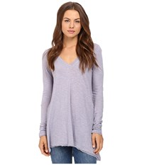 Free People Anna Tee Lavender Women's T Shirt Purple