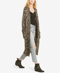 Denim And Supply Ralph Lauren Shawl Collar Long Cardigan Brown Multi