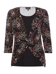 Simon Jeffrey Double Layered Twist Front Top Pink