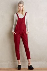 Anthropologie Red Hook Overalls Wine