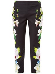 Ted Baker Galla Forget Me Not Cropped Trousers Black
