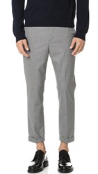 Vince City Cropped End On End Chinos Grey