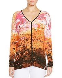Miraclebody Jeans Miraclebody By Miraclesuit Trina Abstract Print Tunic Tangerine