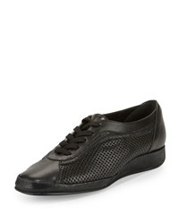 Amalfi By Rangoni Ethel Perforated Leather Sneaker Black