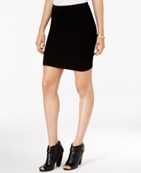 Guess Mirage Textured Mini Skirt Jet Black